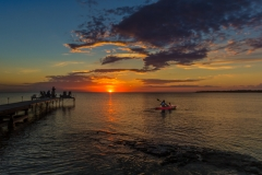 Sunset at the Villa Dock